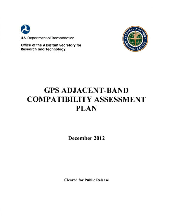 DoT Plan for GPS Adjacent Band Compatibility Study to Get Airing