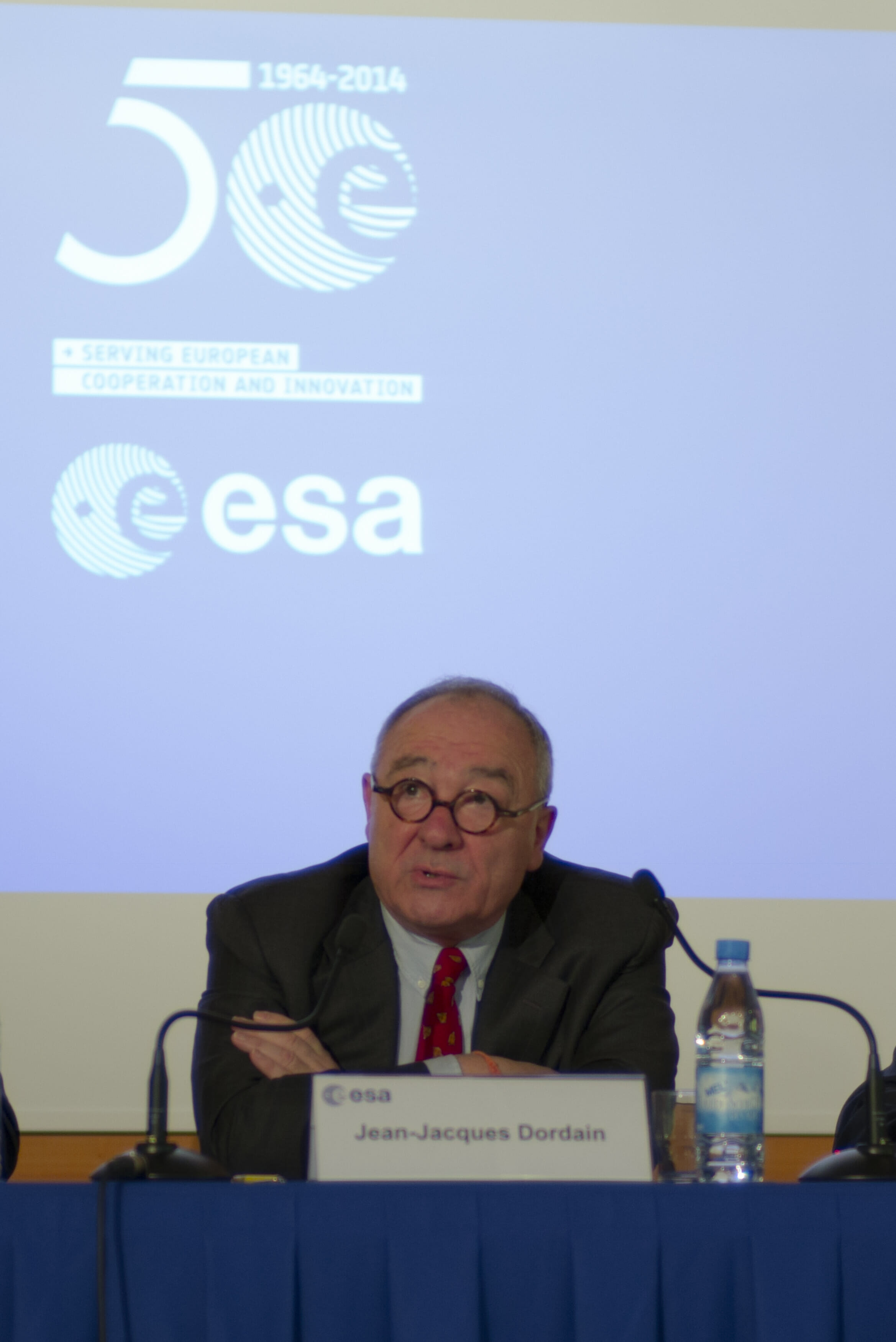 ESA's Dordain Unapologetic about Galileo at Wide-Ranging Press Conference