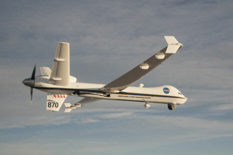 NASA's Ikhana UAS Captures Orion Splashdown