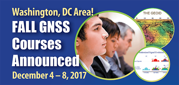 Fall 2017 GPS / GNSS Courses