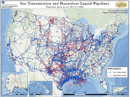 Underground Pipelines Among Transportation Systems Dependent on GPS