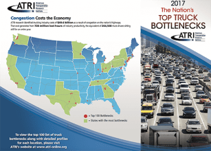 GPS Data Used by ATRI to Name Top 100 Truck Bottlenecks