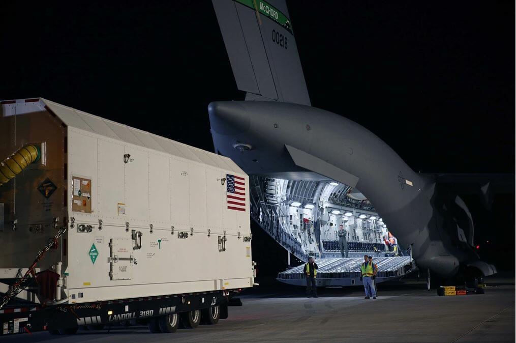 GPS III SV01 transport to Cape
