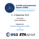 7th International Colloquium on Scientific and Fundamental Aspects of GNSS—Sept. 4-6