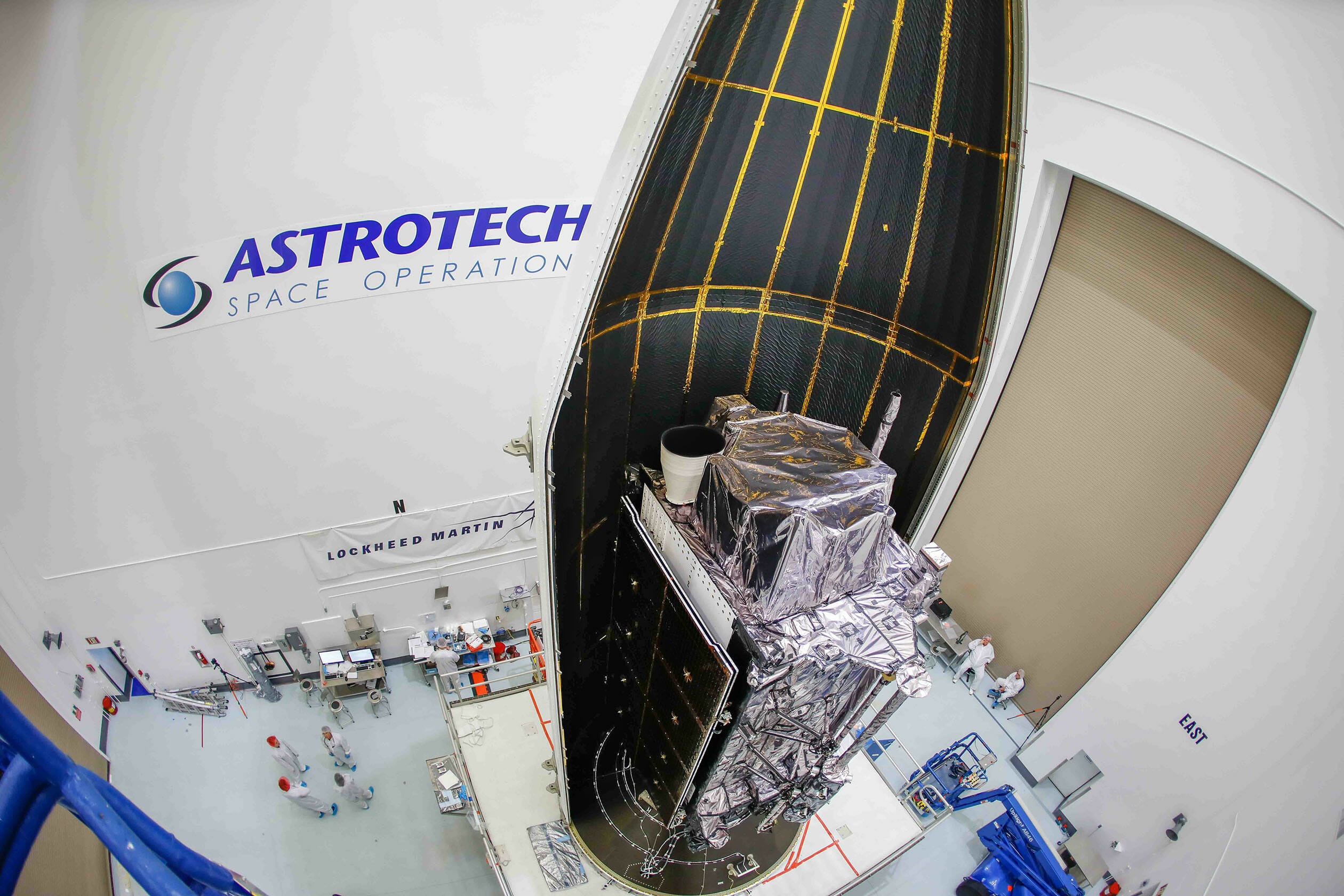 Lockheed Martin's 2nd GPS III satellite encapsulated