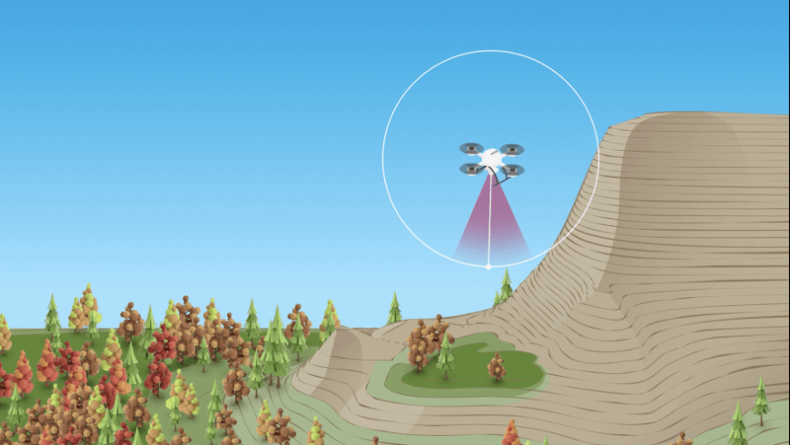 GNSS Receivers Keep Mapping Drone at Optimal Distance from Rugged Terrain