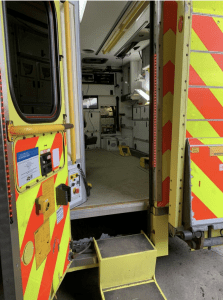 Connected Ambulance Interior. Both photos courtesy Satellite Applications Catapult.