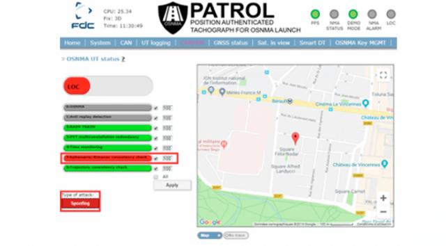 PATROL user interface. Courtesy GSA.