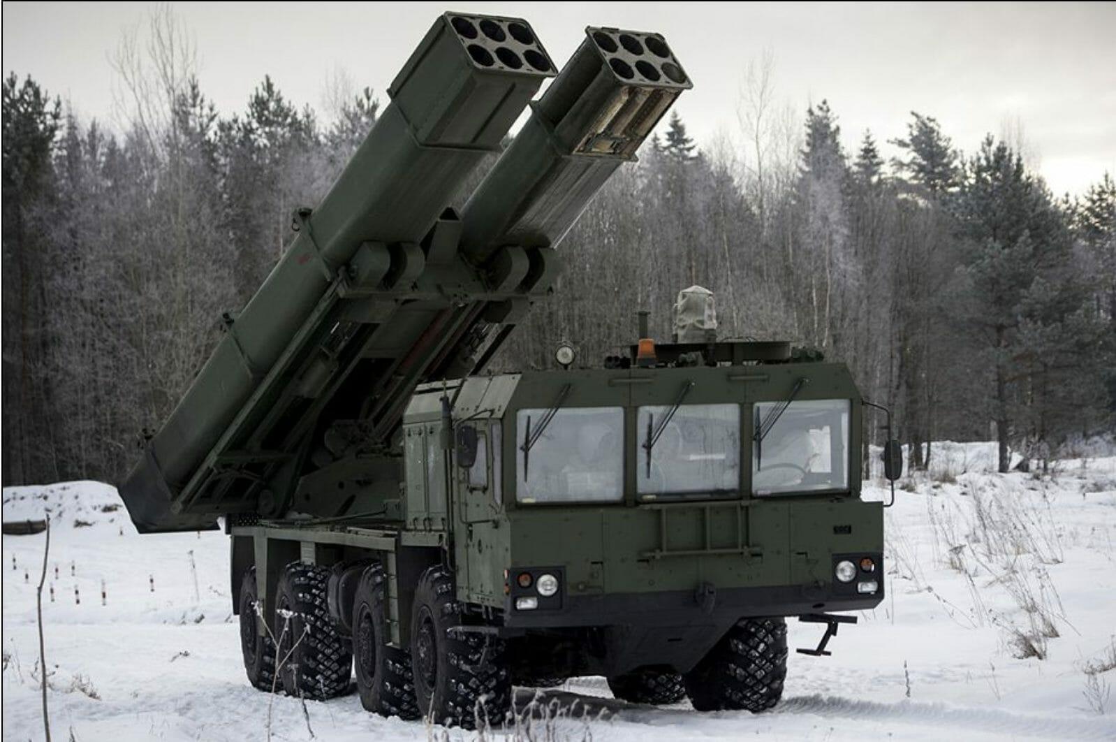 Russian Tornado-S MLRS