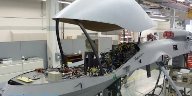 Internal workings of Gray Eagle, courtesy Cobham